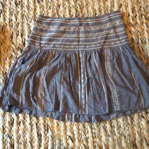White House Black Market blue embroidered skirt